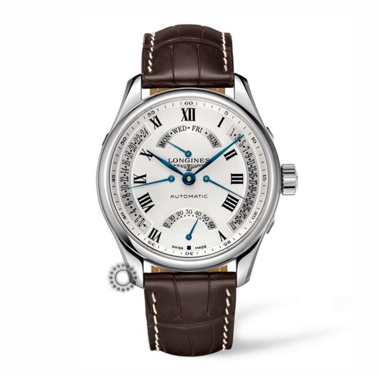 Ανδρικό ρολόι αυτόματο Retrograde ωρογράφος LONGINES Master Collection με καφέ λουρί & ασημί καντράν | Ρολόγια LONGINES κατάστημα ΤΣΑΛΔΑΡΗΣ Χαλάνδρι #master #longines #ρολόγια