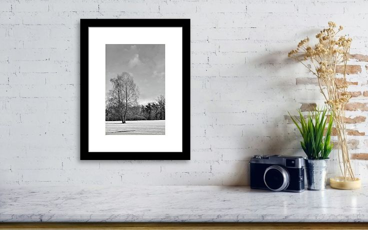 Tree in the snow, landscape photo as wall art #netherland #Enschede #landscape #photo #photography #gerhardhoogterp #wallart