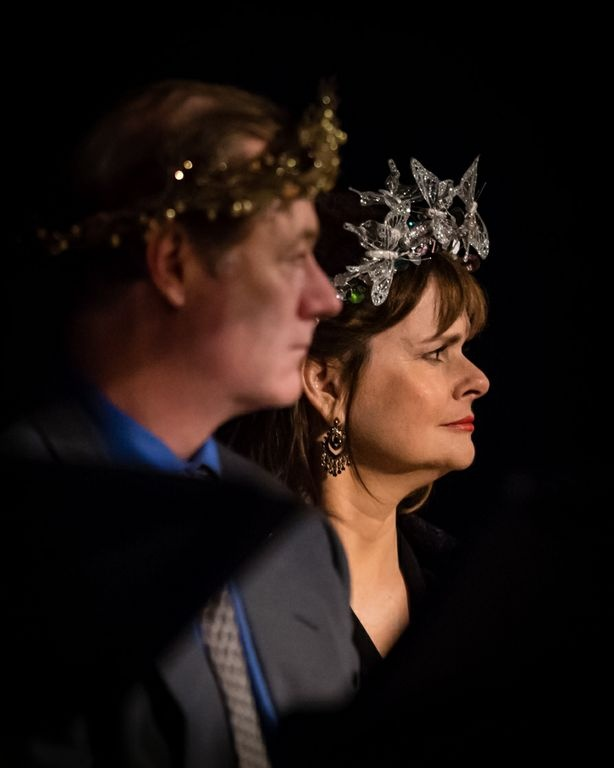 Siren Head Pieces by Sarah McLellan - Fairest of Isles - Al Green Theatre - Photo by Tario Kieran