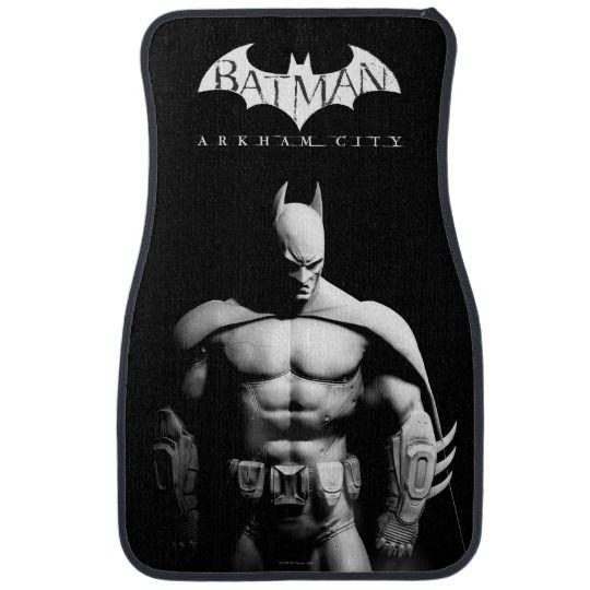 Arkham City | Batman Black and White Wide Pose Car Mat