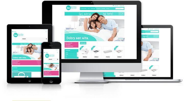 Responsywny sklep internetowy z materacami Senvita zaprojektowany i wykonany przez WiWi #responsive #design #webdesign #inspiration #Responsive #Web #layout