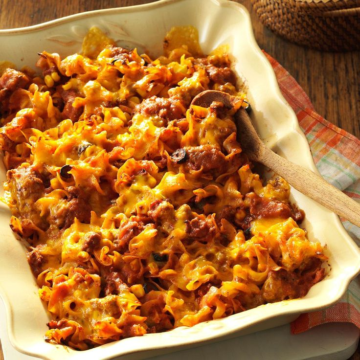 Italian Casserole Recipe -I come from a huge family, and it seems there is always a potluck occasion. No matter what time of year, this hearty, crowd-pleasing Italian casserole is always a hit. It's easy to make and serve. &mash;Rita Goshaw, South Milwaukee, Wisconsin