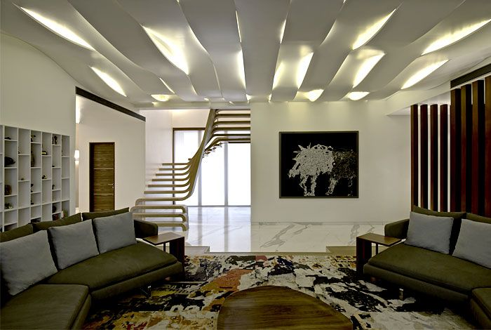 Best Sophisticated Indian Apartment With Woven Staircase 400 x 300