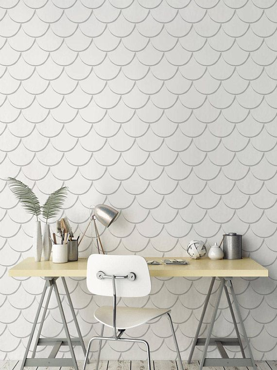 Removable Scallop Wallpaper Self Adhesive Scallop Pattern Etsy Temporary Wallpaper Wall Stickers Uk Wall Stickers Living Room