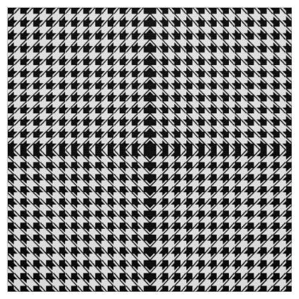 Black White Houndstooth Fabric - pattern sample design template diy cyo customize