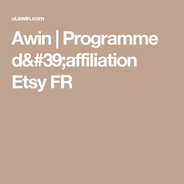 Awin | Programme d'affiliation Etsy FR