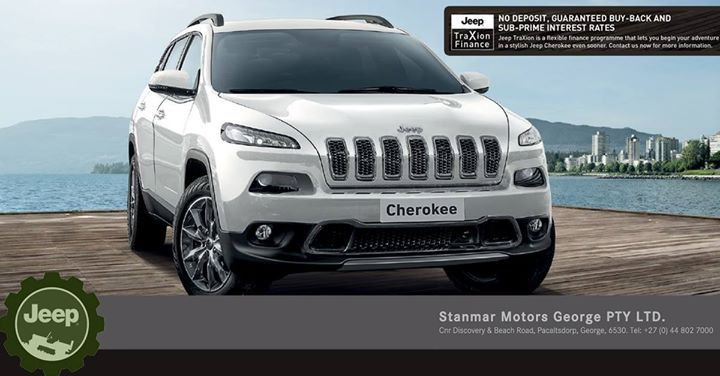 Introducing the #Jeep #TraXion finance option, the all new way to drive a brand new Jeep #Cherokee. No Deposit, Guaranteed Buy-Back and Sub-Prime Interest Rates! Contact #TeamStanmar on 044 802 7000 now for more information on this amazing new way to drive a brand new Jeep.