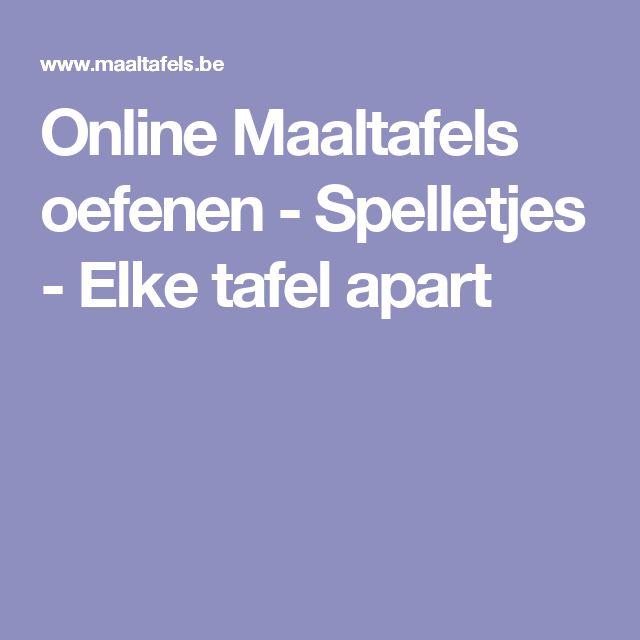Online Maaltafels oefenen - Spelletjes - Elke tafel apart
