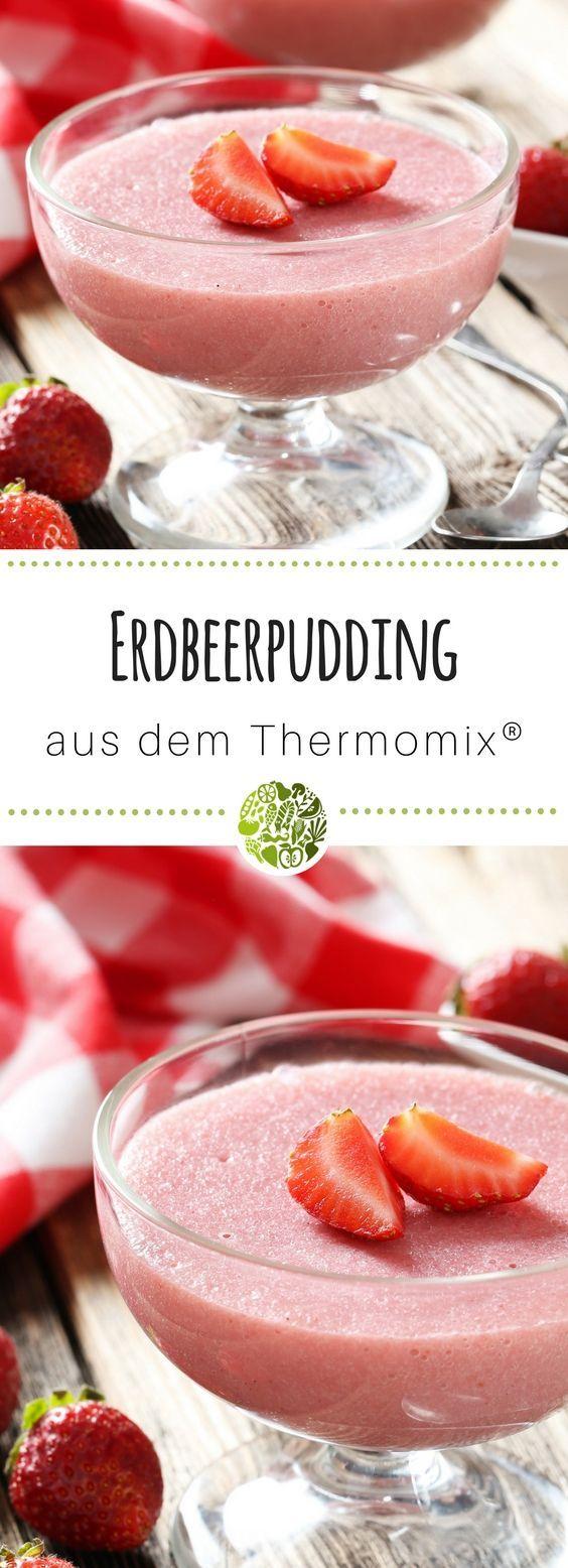 6x Thermomix®️ Pudding - hol Dir das Grundrezept für Erdbeerpudding aus TM5®️ oder TM31 - die Kids werden Dich dafür lieben! #thermomix #thermomixrezepte #willmixen