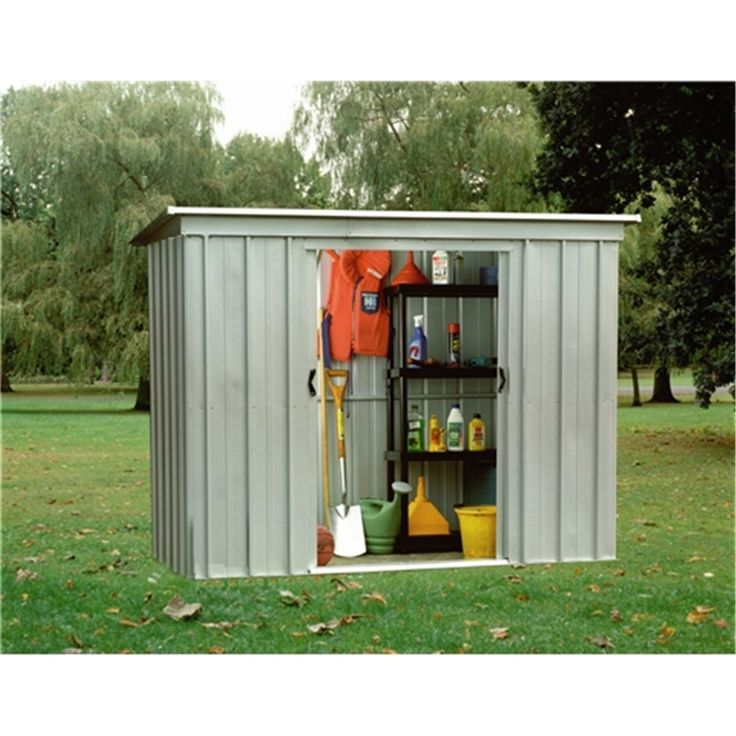 7 5 x 3 5 pent metal shed free anchor kit - Garden Sheds 7 X 3