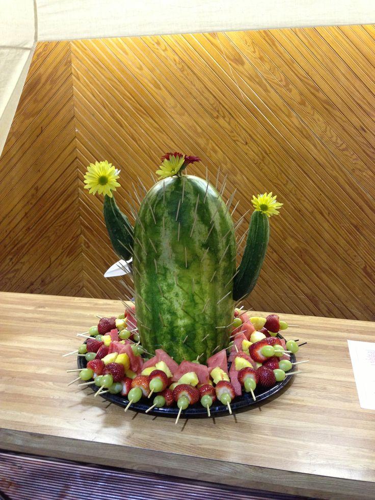 Ms. Ann's cactus watermelon creation .... VBS western theme