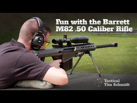 Fun with the Barrett M82 .50 Caliber Rifle - http://fotar15.com/fun-with-the-barrett-m82-50-caliber-rifle/