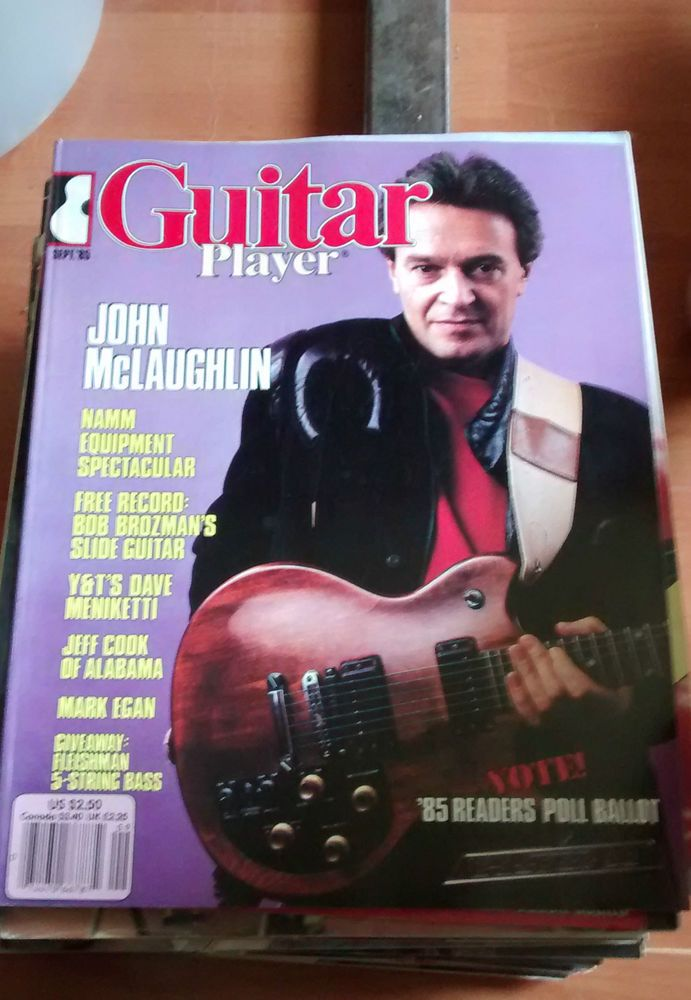 Guitar Player Mag good condition September 1985