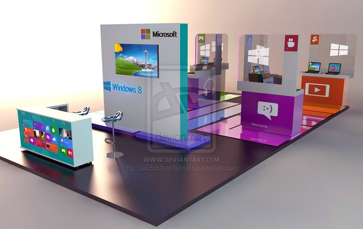 EXHIBITION STAND Microsoft by SeifEddineNahali