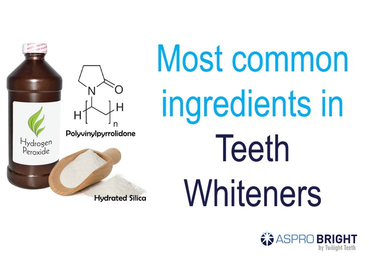 Top ingredients in popular teeth whiteners. Learn the pros & cons to determine which is best for you. Shop Aspro Bright teeth whitening kit.