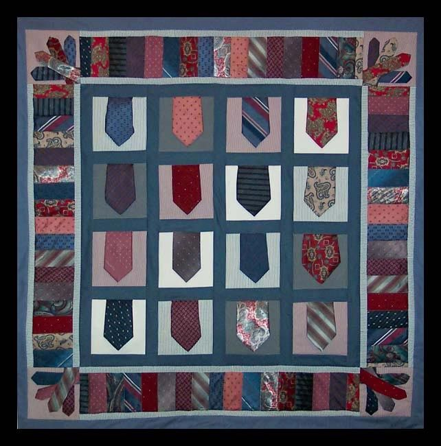 Necktie Quilting Patterns : Necktie Quilt Quilt ideas Pinterest