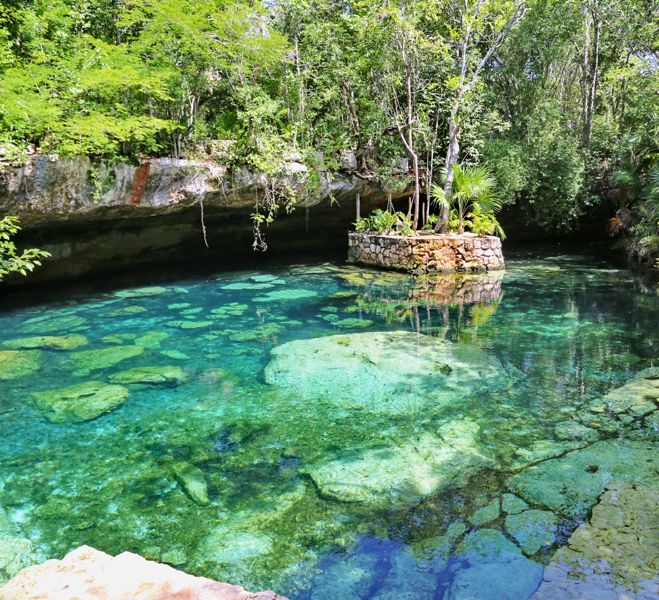 L'escursione nei cenotes, delle grotte contenenti acqua fresca, chiara e cristallina dove ci siamo immerse ed abbiamo esplorato un mondo subacqueo straordinario sorprendente!