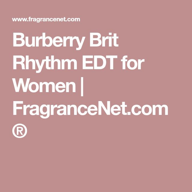 Burberry Brit Rhythm EDT for Women | FragranceNet.com®