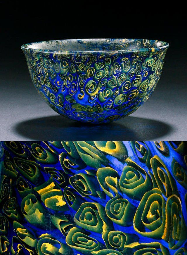 Hellenistic mosaic glass bowl, late 3rd-2nd Century B.C