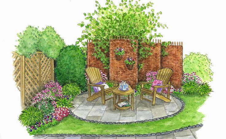Zum Nachpflanzen: Kleine Gartenecke zum Entspannen