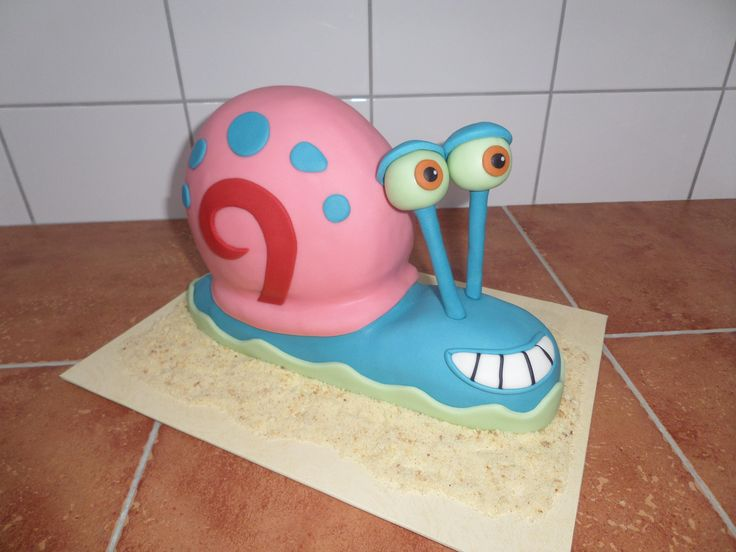 dort - šnek Gary z animovaného seriálu Spongebob / cake - snail Gary the animated series SpongeBob SquarePants