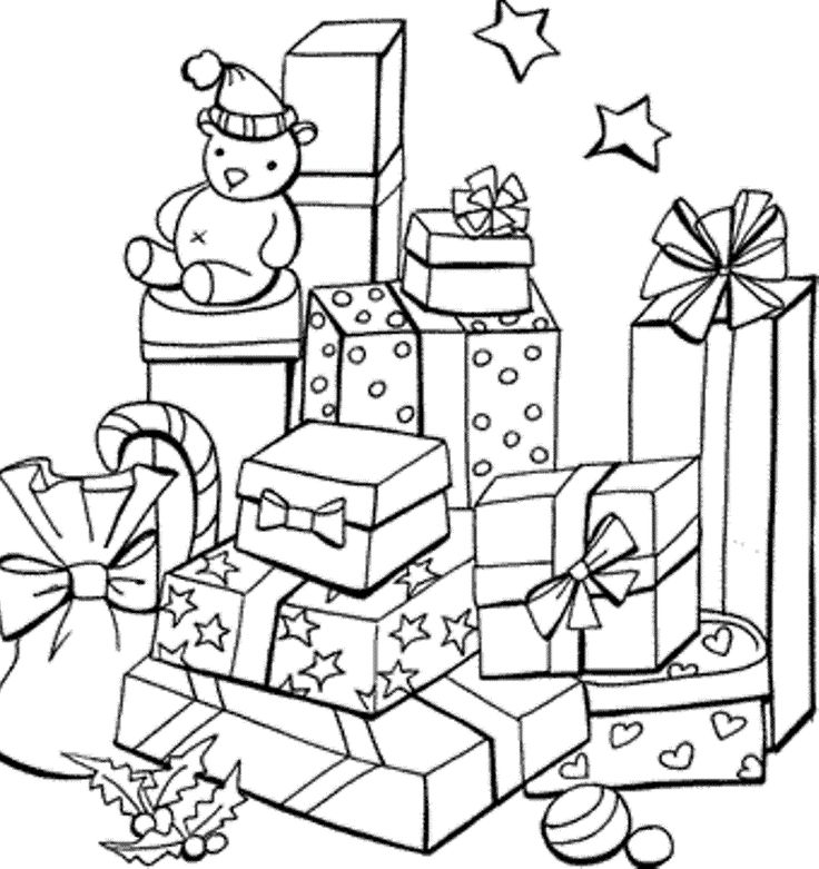 christmas gifts coloring pages xmas printable gifts