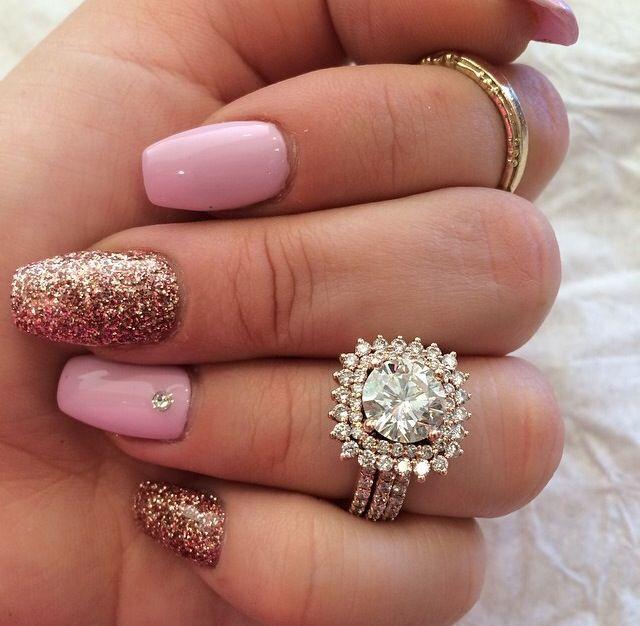 99 Best Rose Gold Engagement Rings Images On Pinterest