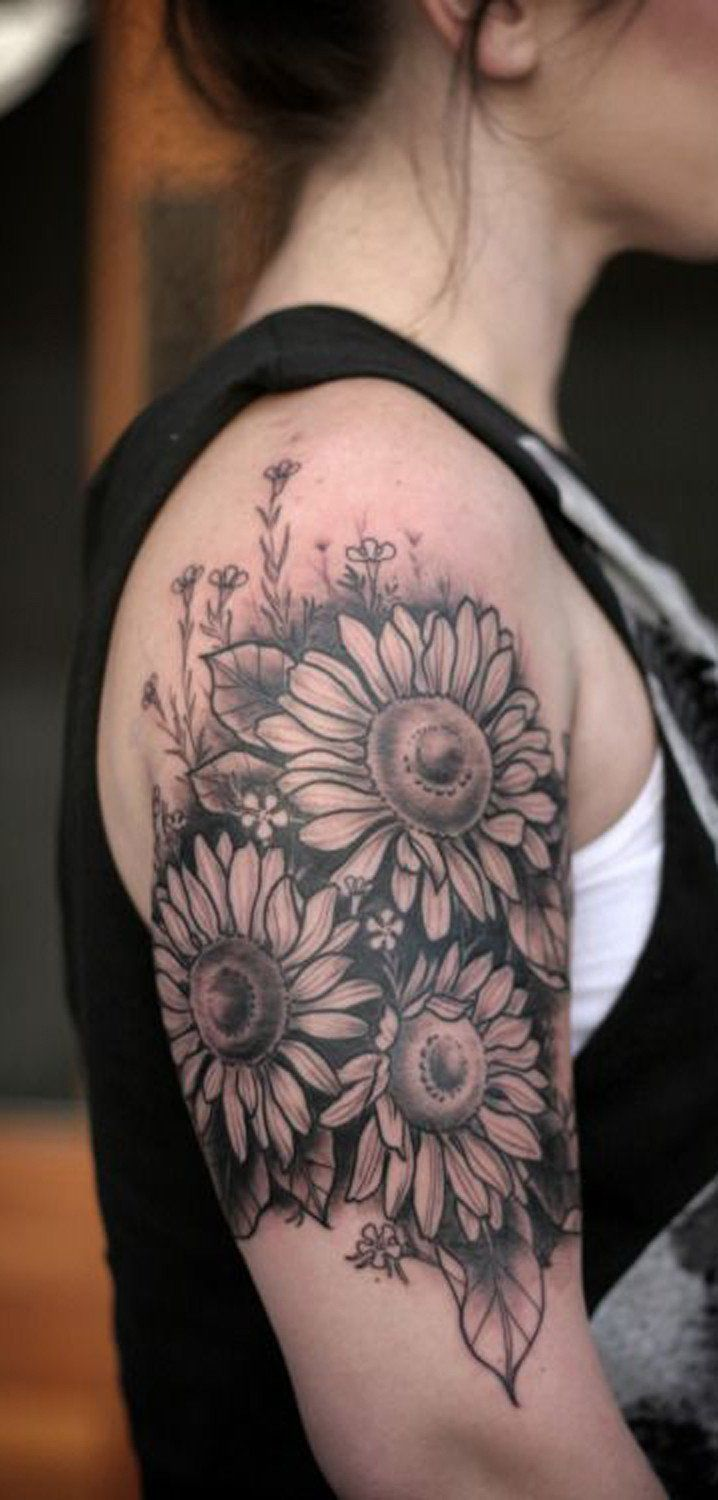20 best sunflower tattoo images on pinterest | draw, colours and