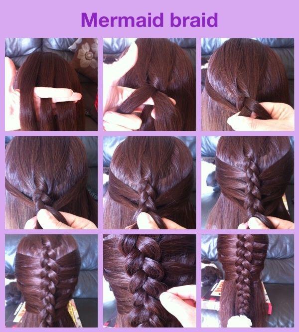 Mermaid Braid- Step By Step | Hair | Pinterest | Brides ...
