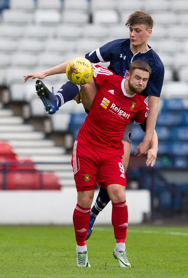 Queen's Park's Cammy Foy in action during the Ladbrokes League One game between Queen's Park and Albion Rovers.