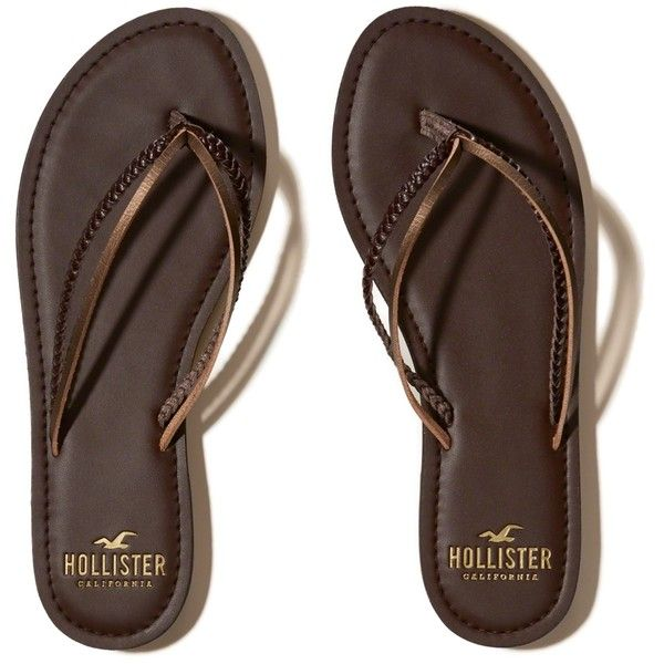 Hollister Mixed Strap Flip Flop ($20) ❤ liked on Polyvore featuring shoes, sandals, flip flops, dark brown, strap flip flops, dark brown sandals, strap sandals, strappy sandals and strappy flip flops