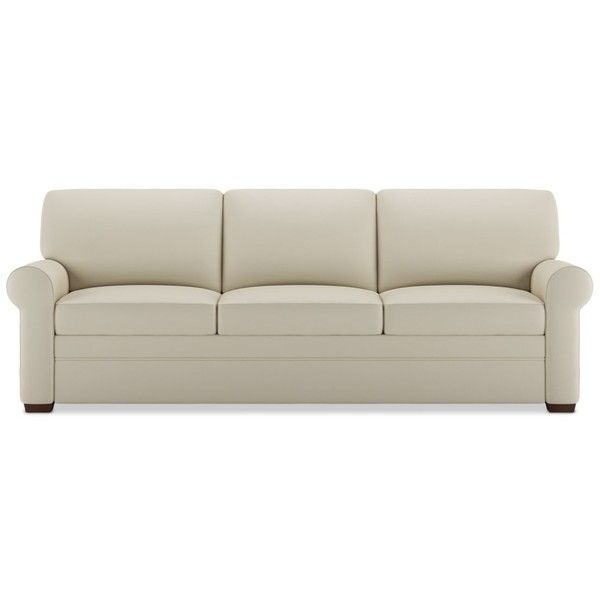 American Leather Gaines Sleeper Sofa ($6,748) ❤ Liked On Polyvore Featuring  Home, Furniture
