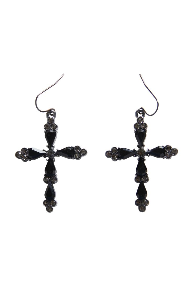 Max - Jewel Cross Earring $19.00