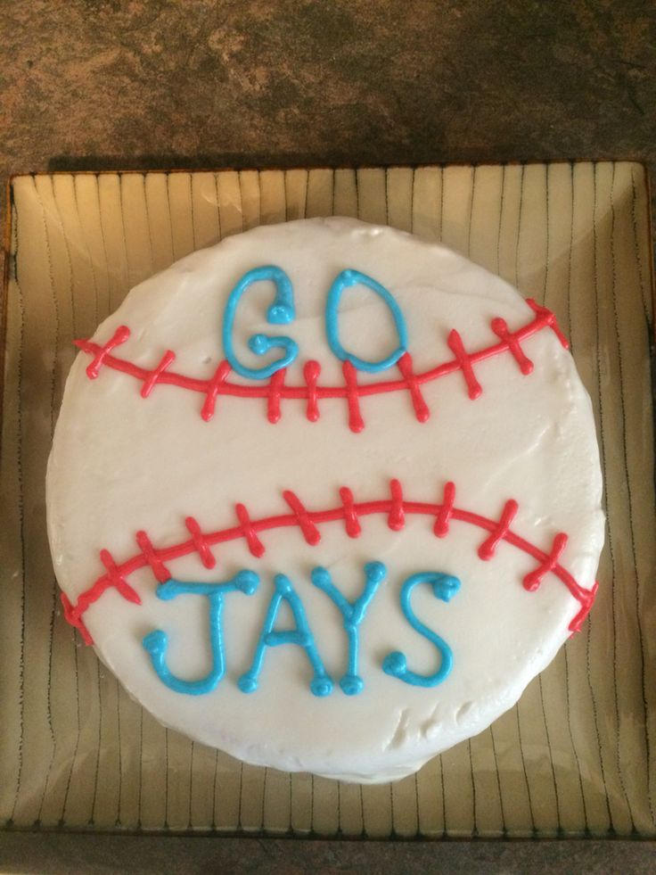 Made a cake to cheer on the Jays