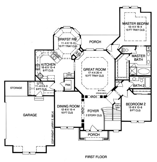 The Cotswold House Plans First Floor Plan House Plans By