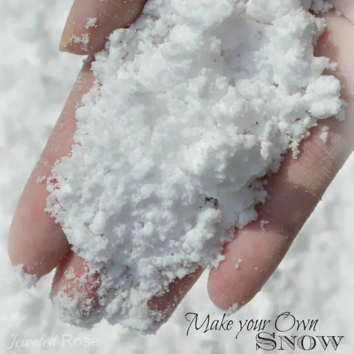 Make perfect snow for children to play with, mix baking soda and shaving cream to make clean, cold snow! Easy to mould into snowmen and snow balls and explodes into an avalanche is mixed with vinegar, lots of fun!