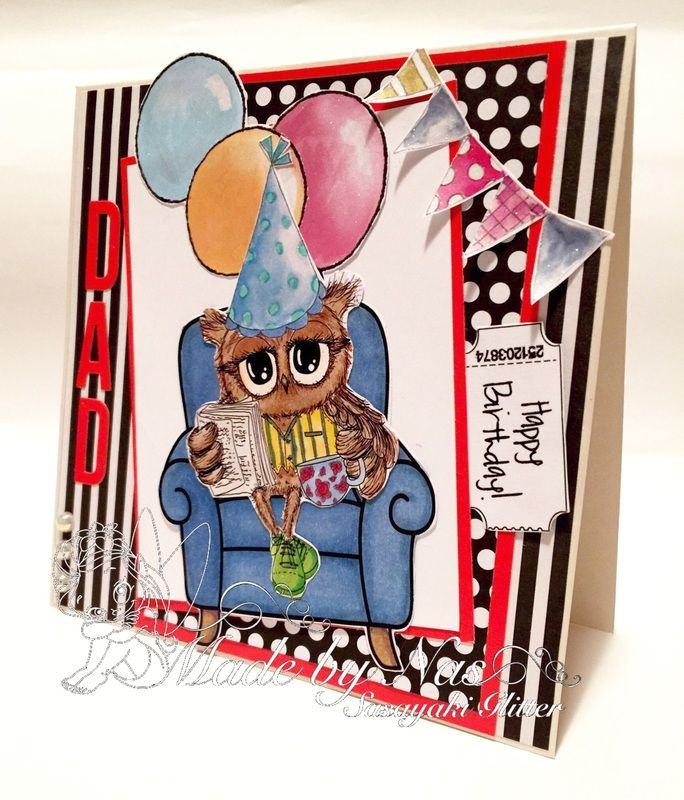 My card for Polkadoodles Fathers Day/Anything Male Challenge  http://polkadoodle.blogspot.com.au/ More details on my blog http://sasayakiglitter.weebly.com/blog/