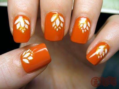 Best 25 orange nail art ideas on pinterest orange nail spring thanksgiving nail art get turkey ready with these designs prinsesfo Choice Image