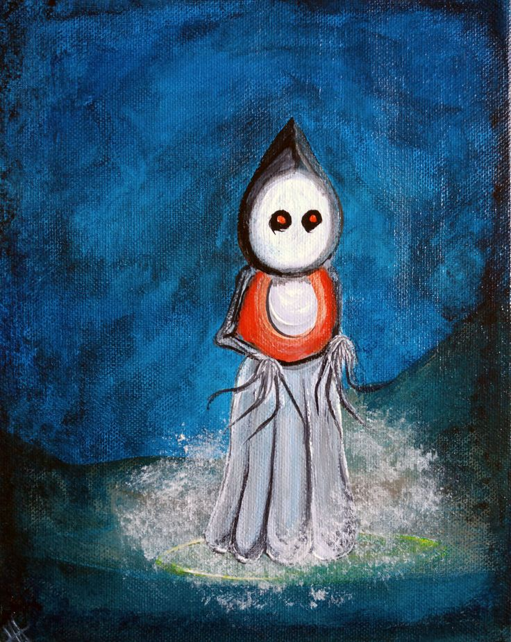 Legendary Flatwoods Monster Painting of Flatwoods, WV, USA by GiftBound on Etsy