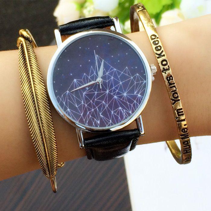 Пространство галактики часы черный желе женщины часы дамы браслет мужская мужские наручные часы черные полосы reloj бесплатная доставка купить на AliExpress