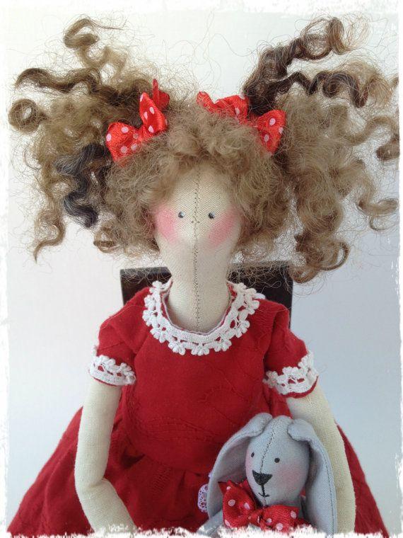 Textile doll Tilda by LilyDollsGifts on Etsy