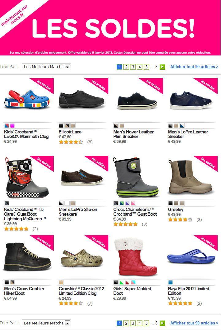 Soldes CROCS - Vos Chaussures Crocs pas cher -50%