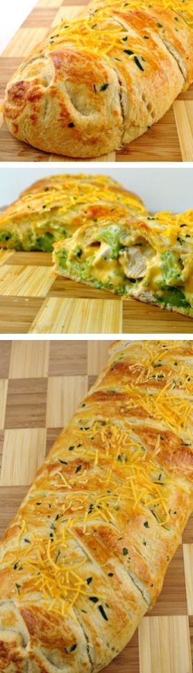 Broccoli Cheddar Chicken Crescent Braid