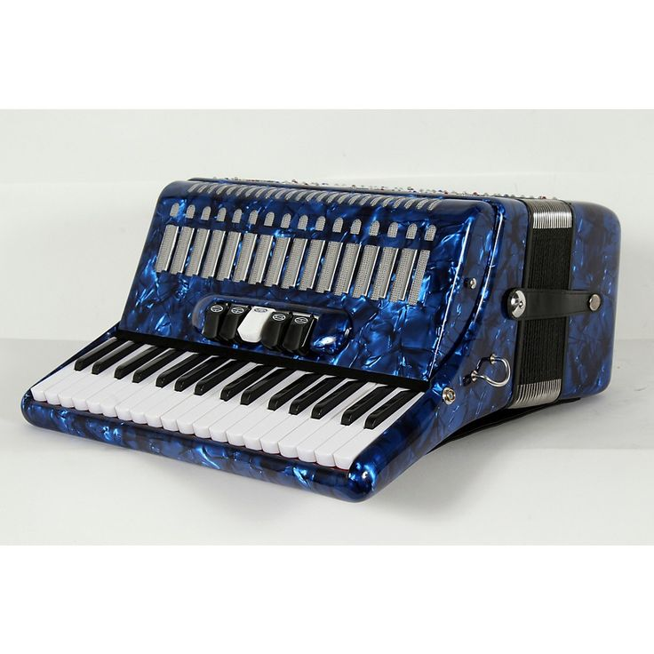 SofiaMari SM 3472 34 Piano 72 Bass Button Accordion Dark Blue Pearl 888366004654