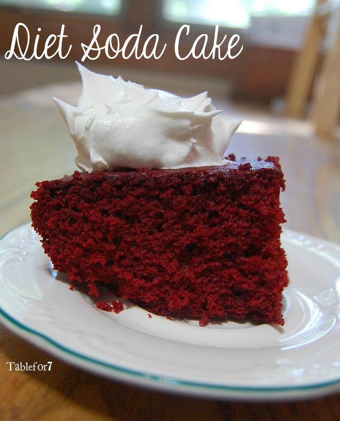 Table for 7: Diet Soda Cake
