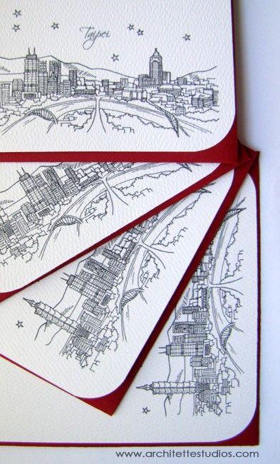 Taipei Taiwan  Asia/Pacific  City Skyline by ArchitetteStudios, $18.50