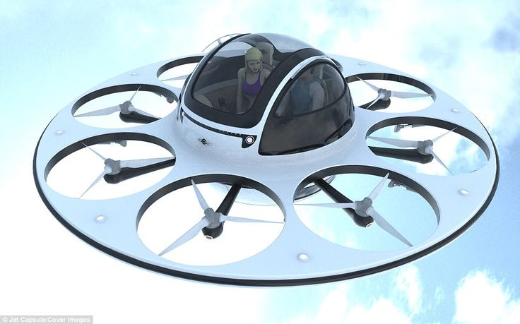 People looking for a trip that's truly 'out of this world' can now fly in style with the I.F.O or 'Identified Flying Object' (pictured), a proposed two-seater drone/copter vehicle that looks like a UFO