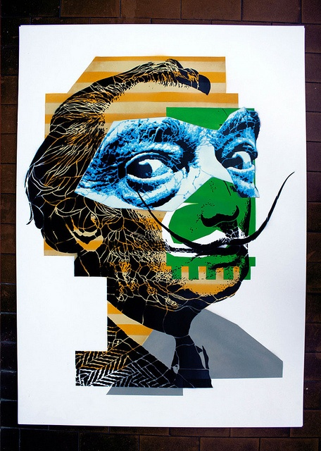2011 | Portrait of Salvador Dalì | Ed. 12/15 | [different color for each] | 70×100 cm |  Stencil on Paper