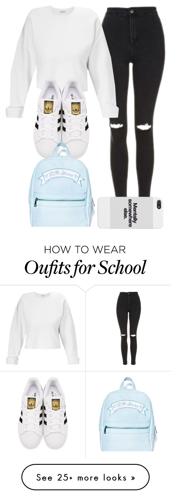 """school"" by anacxrros on Polyvore featuring Topshop, Miss Selfridge, adidas Originals and Sugarbaby"