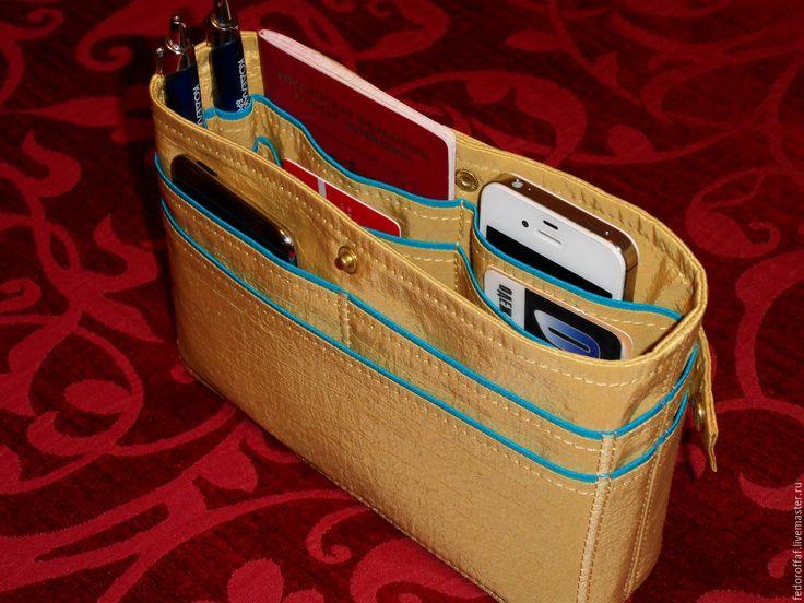Купить Органайзер для маленькой сумки - разноцветный, органайзер, Органайзер для сумки, тинтамар, косметичка, маленькая сумочка